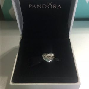 Pandora Language Of Love HEART Charm Silver 925